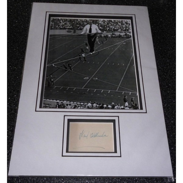 Karl Wallender Flying Wallanders high wire genuine authentic signed autograph display