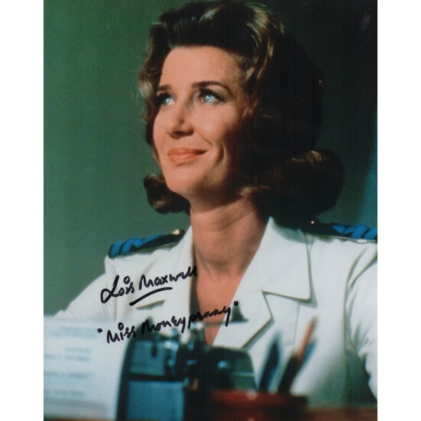 Lois Maxwell James Bond genuine authentic signed autograph photo