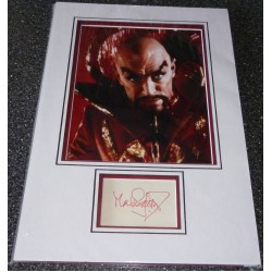 SOLD Max Von Sydow Flash Gordon genuine authentic signed autograph display