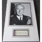 Mountbatten of Burma WW2 genuine authentic autograph signature and photo