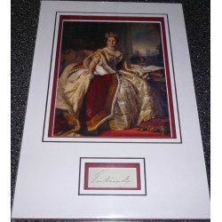 Queen Victoria genuine authentic autograph signature and photo