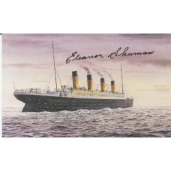 RMS Titanic Eleanor Shuman survivor genuine authentic signed autograph FDC 3