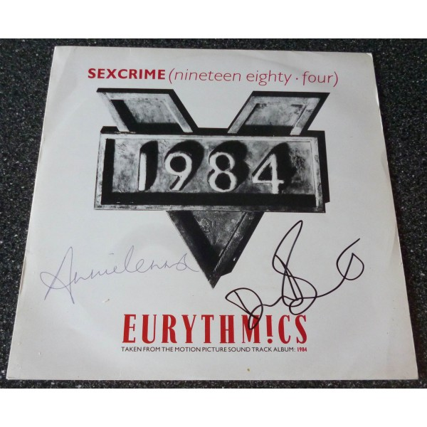 Eurythmics Annie Lennox Dave Stewart genuine authentic autograph signed album