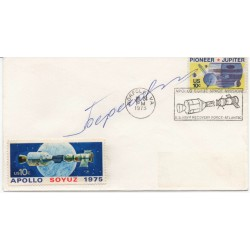 Georgi Beregovy Cosmonaut genuine authentic autograph signature FDC