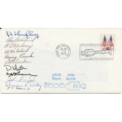 J T Humhprey Head of Propulsion team genuine authentic autograph signature FDC