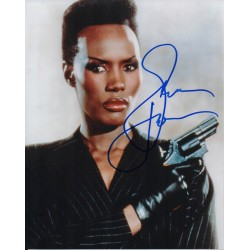 James Bond Grace Jones signed authentic autograph photo