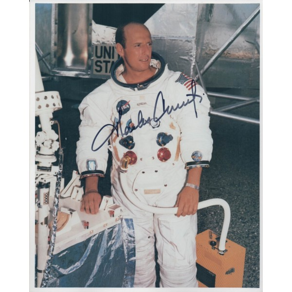 SOLD Charles Pete Conrad Apollo 12 authentic genuine signed autograph photo