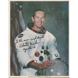 Charlie Duke Apollo 16 genuine authentic autograph signed litho.