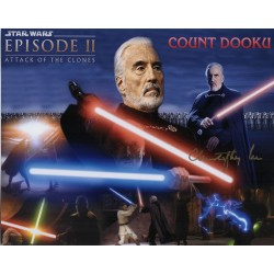 Christopher Lee Count Dooku Star Wars genuine authentic autograph signed photo