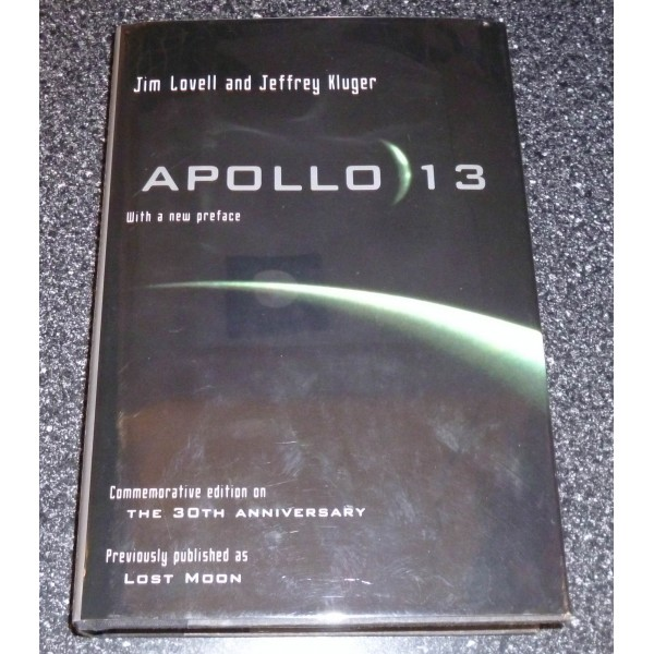 Jim James Lovell Apollo 13 authentic genuine signed autograph book