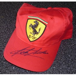 John Surtees F1 Ferrari genuine authentic autograph signed cap.