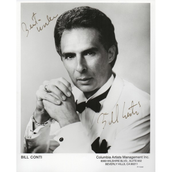 Bill Conti James Bond FYEO genuine authentic autograph signed photo