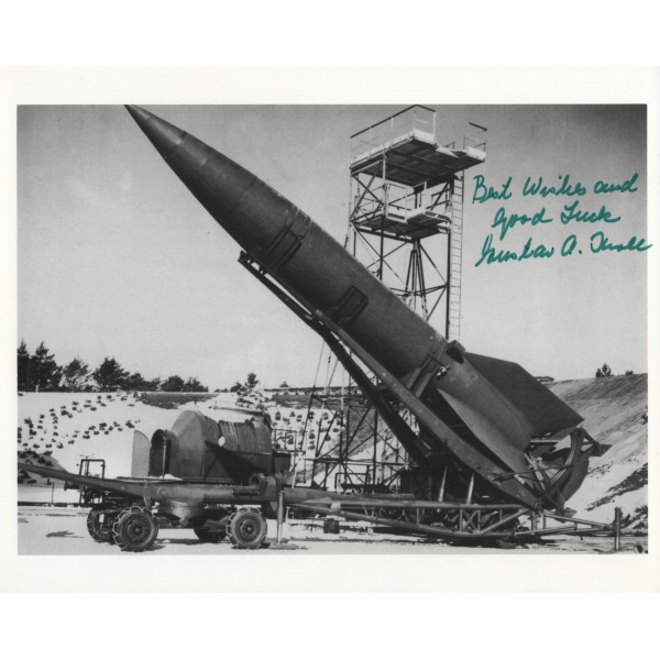 Gustav Kroll V1 V2 Von Braun genuine authentic autograph signed image