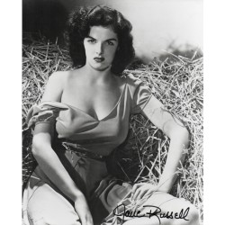 Jane Russell sexy genuine authentic autograph signed photo