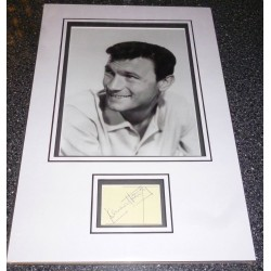 Laurence Harvey genuine authentic autograph signed display