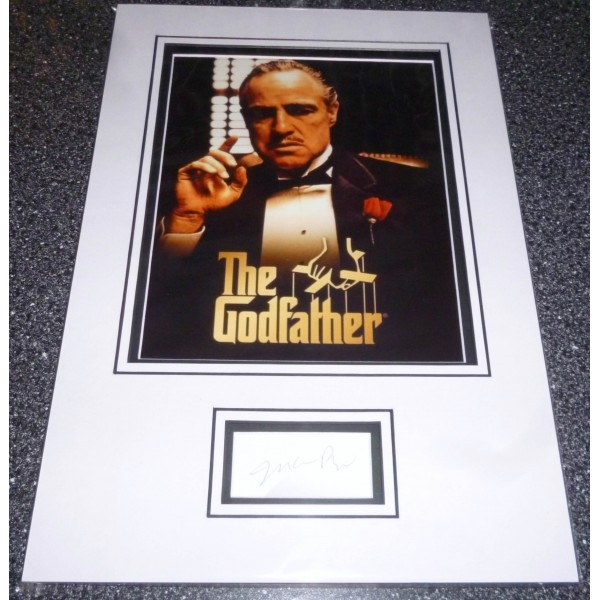 Mario Puzo The Godfather genuine authentic autograph signed display