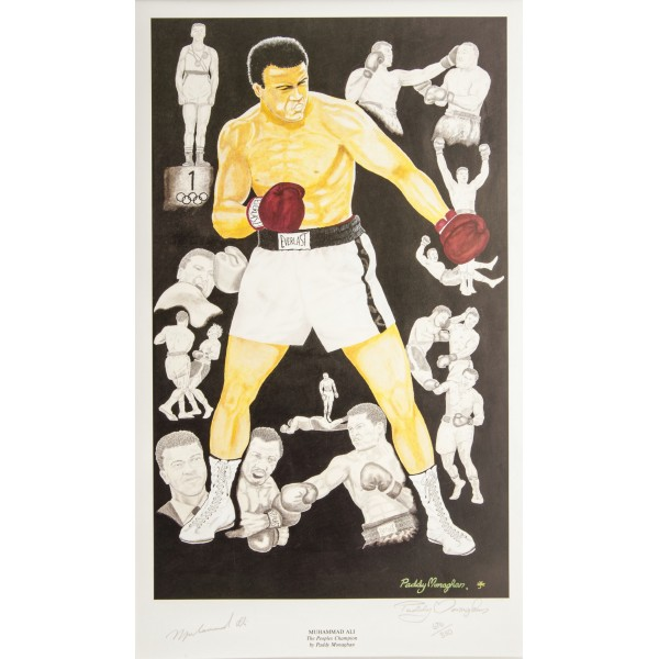 Muhammad Ali Boxing genuine authentic autograph signed print