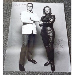 Patrick MacNee Honor Blackman Avengers genuine authentic autograph signed photo
