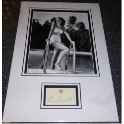 Rita Hayworth genuine authentic autograph signed display