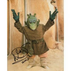 Warwick Davis Star Wars genuine authentic autograph signed photo