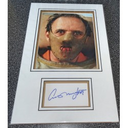 Anthony Hopkins signed genuine signature autograph display