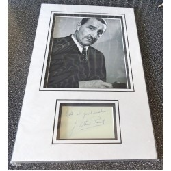 J. Arthur Rank signed genuine signature autograph display