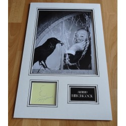 Alfred Hitchcock signed sketch genuine signature photo display