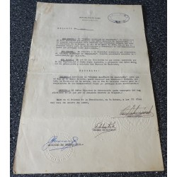 Fidel Castro genuine authentic signed document