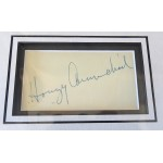 Hoagy Carmichael signed genuine signature autograph display