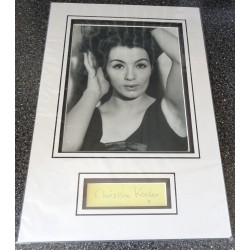 Christine Keeler signed genuine signature autograph display
