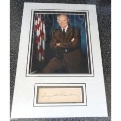 Dwight D Eisenhower signed genuine signature autograph display