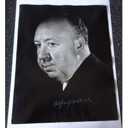 Alfred Hitchcock large signed genuine signature photo