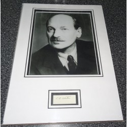Clement Attlee PM signed genuine signature autograph display