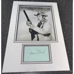 SOLD Jimmy James Stewart signed genuine signature autograph display