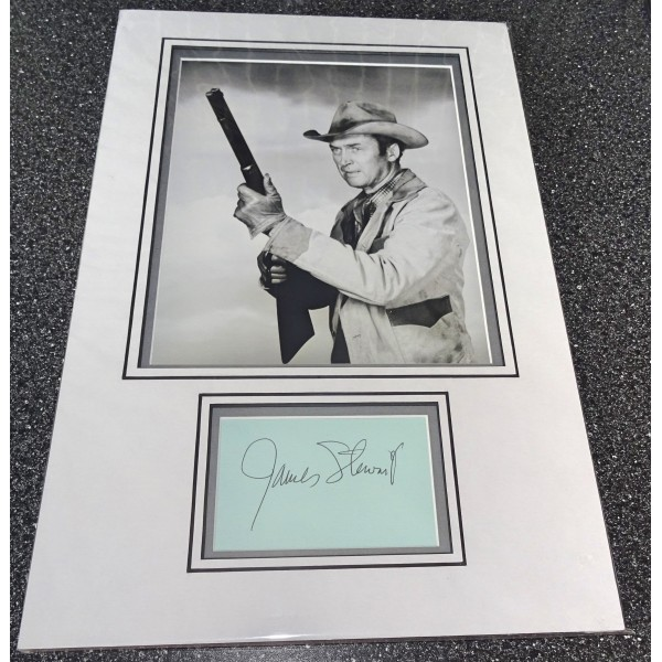 Jimmy James Stewart signed genuine signature autograph display