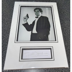 SOLD Timothy Dalton James Bond signed genuine signature autograph display