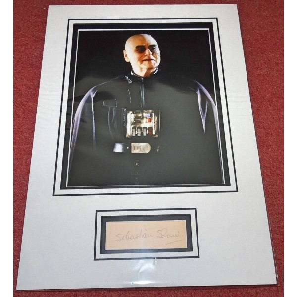 Sebastian Shaw Star Wars Darth Vader genuine signed authentic autograph photo display