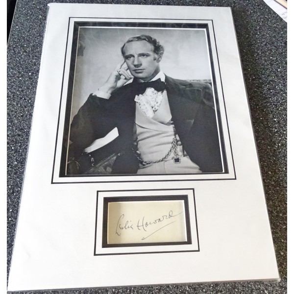 Leslie Howard Gone with the Wind signed genuine signature autograph display