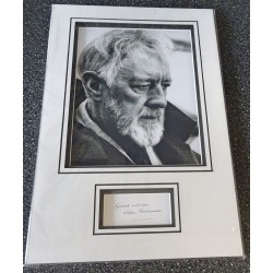Alec Guinness Star Wars signed genuine signature autograph display