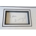 Ian Dury Blockheads signed genuine signature autograph display