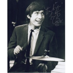 Charlie Watts Rolling Stones signed genuine signature autograph photo