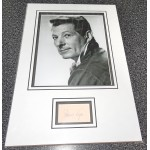 Danny Kaye comedy signed genuine signature autograph display
