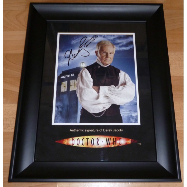Derek Jacobi Doctor Who original signed autograph photo display
