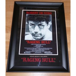 Jake La Motta Raging Bull Boxing original signed autograph photo display