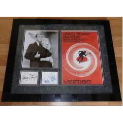 James Stewart Kim Novak original signed autograph photo display