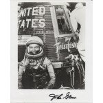 John Glenn Mercury signed genuine signature photo NASA