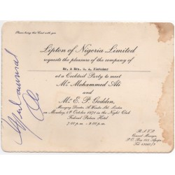 Muhammad Ali boxing signed genuine signature autograph ticket