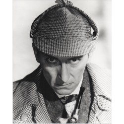 Peter Cushing Sherlock Holmes signed genuine signature photo