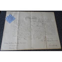 Queen Victoria genuine authentic autograph signed document.