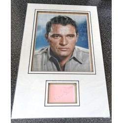 Richard Burton signed genuine signature autograph display